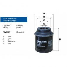 Фильтр масляный для VW Jetta CFNA, CLRA 1,6 (105 л.с.), FILTRON OP641/2