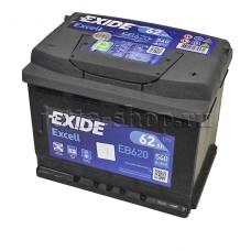 Аккумулятор для VW Jetta CAXA 1,4 ( 122 л.с), EXIDE Excell 12V 62Ah 540A 242x175x190
