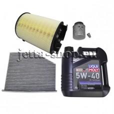 Набор оригинальных расходников+масло для ТО-1 VW Jetta VI  CAXA 1,4 (122 л.с.)
