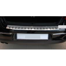 Накладка на задний бампер профилированная с загибом VW JETTA VI,  Alu-Frost