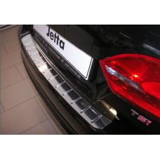 Накладка на задний бампер с силиконом VW JETTA VI,  Alu-Frost