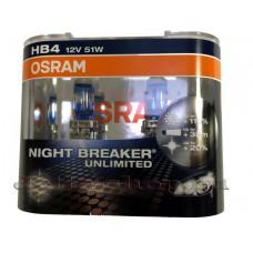 Галогенная лампа (2 шт) для VW Jetta VI (с 2010 г.в. по н.в.), Osram HB4 Night Breaker Unlimited +110% света