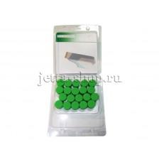 Колпачки (20 шт.) для колесных болтов VW Jetta, зеленые
