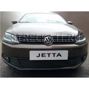 Защита радиатора для Volkswagen Jetta 6 (Черная)