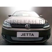 Защита радиатора для Volkswagen Jetta 6 (Хром)