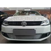 Защита радиатора для Volkswagen Jetta 6, Premium (Хром)